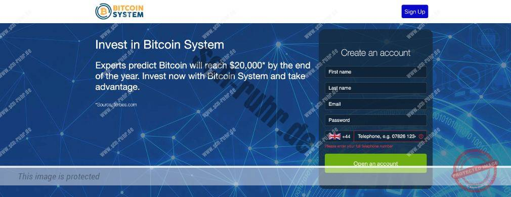 Bitcoin System Scam