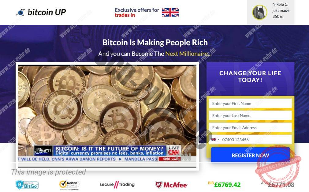 Bitcoin Up Scam